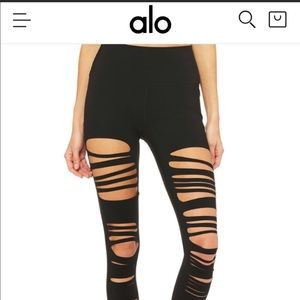 NWOT Alo EXTREME ripped warrior leggings